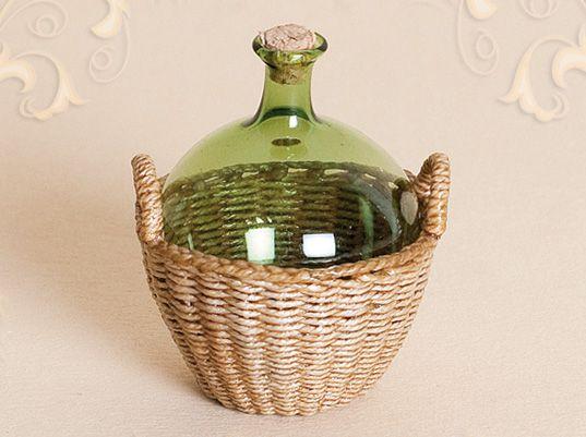WC/106, wicker bottle basket, scale 1 : 12, made by Will Werson.