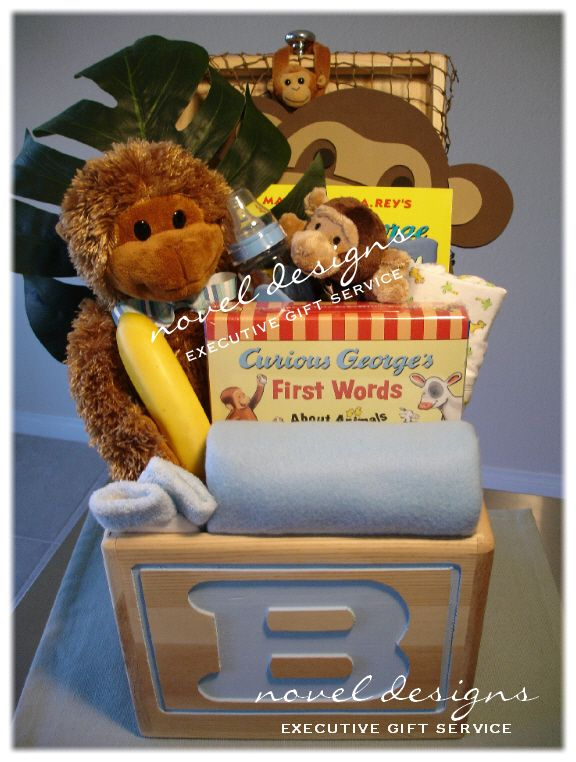 Baby Gift Delivered : Custom monkey baby gift basket local las vegas area hand