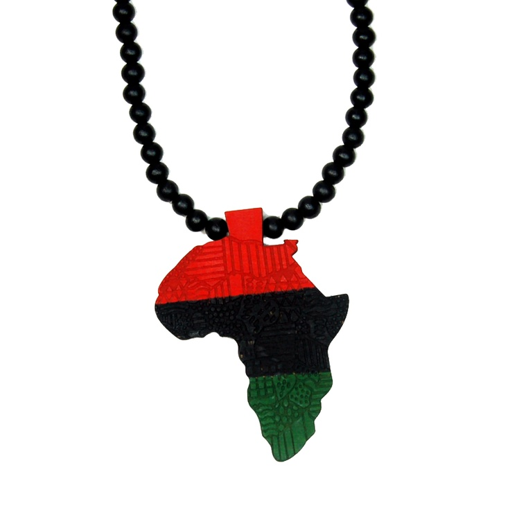 The RBG Store - Wooden Red Black and Green (RBG) Africa Necklace, $19.99 (http://www.rbgstore.com/necklaces/wooden-red-black-and-green-rbg-africa-necklace/)