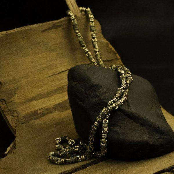 Цепь «Да воскреснет Бог…», золото.  Кустодия-творческая мастерская. Ювелирные украшения ручной работы./ Цепи и браслеты золотые и серебряные/