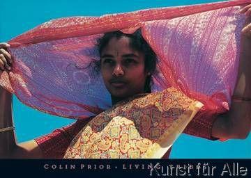 Colin Prior - Tamil girl in crimson
