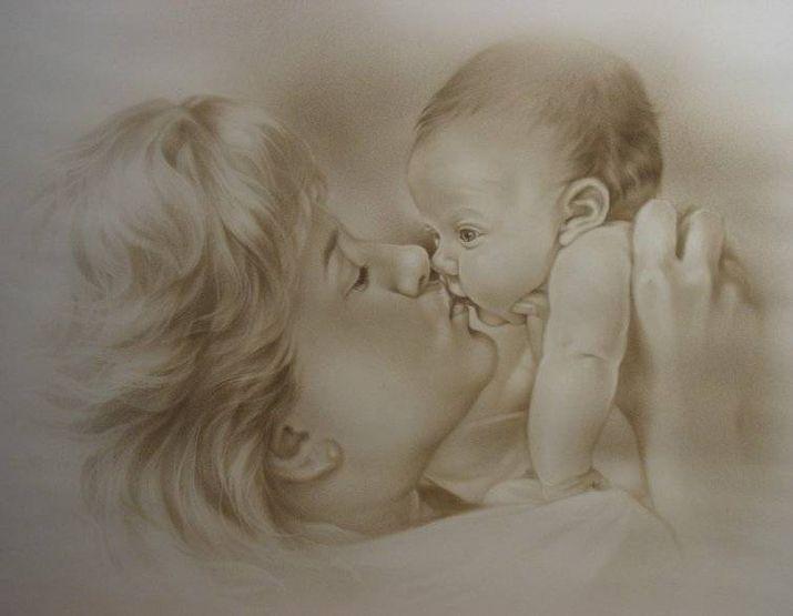 Открытка мама с малышом, брату своими руками