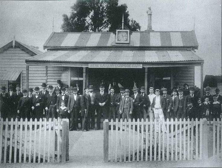 The old Carlton grandstand, circa 1890.