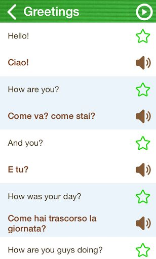 The Learn Italian Phrasebook is a high quality and user-friendly Phrasebook app available on phone and tablet. And it is FREE! It will bring you an excellent and delightful learning experience! <p>Phrasebook Features: <br>♦ 800+ phrases and vocab - All FREE!!<br>♦ Authentic Italian pronunciation <br>♦ User-friendly design <br>♦ Search phrases by English or Italian <br>♦ Offline mode<br>♦ Copy phrases <br>♦ Favourite function for storing phrases<p>Categories:<br>♦