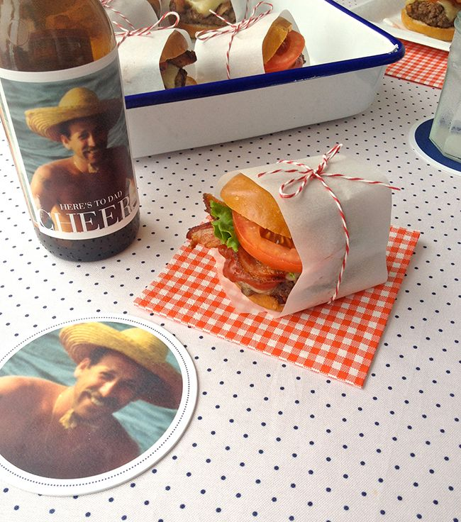 Moms get brunch, dads get barbecue. #fathersday #baconburger #bbq #photocoasters