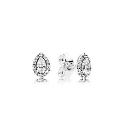 Radiant Teardrops Earring Studs - 296252CZ - Earrings   PANDORA