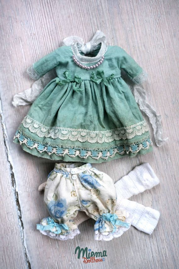 Outfit vintage Style 3 items for Blythe by Miema par miema4dolls