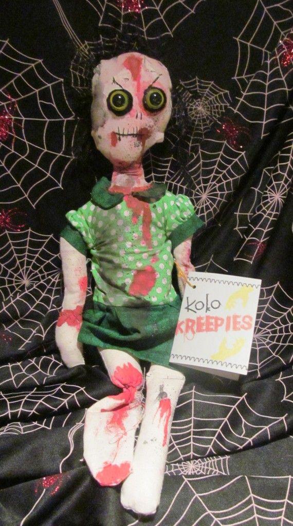 Koko Halloween : Koko Kreepies Halloween Zombie Doll Lorraine