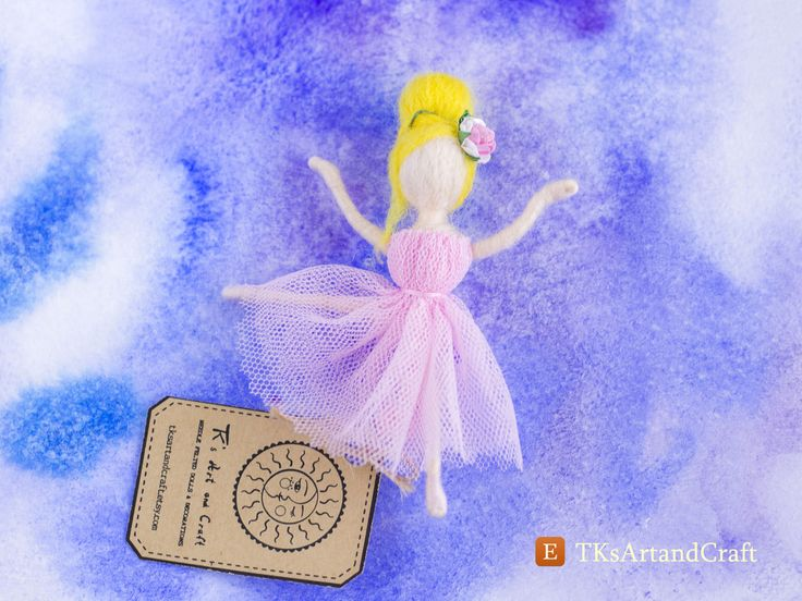 Waldorf-Inspired Charming Needle Felted Brooch - Ballet Dancer by TKsArtandCraft on Etsy
