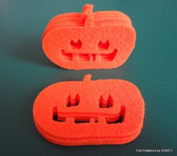 Die cut felt pumpkin20 pcs felt by FeltCreationsbyDGNCY on Etsy