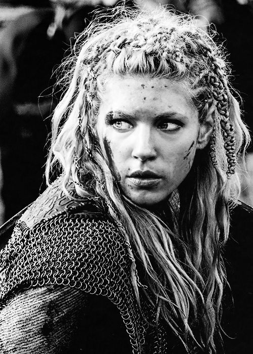 Vikings. Lagertha. I love that she has chains in her hair.