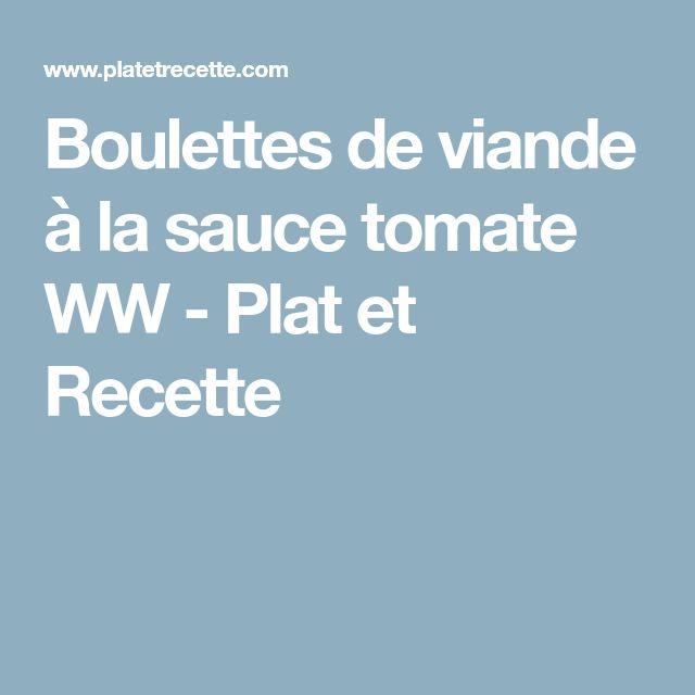 Boulettes de viande à la sauce tomate WW - Plat et Recette