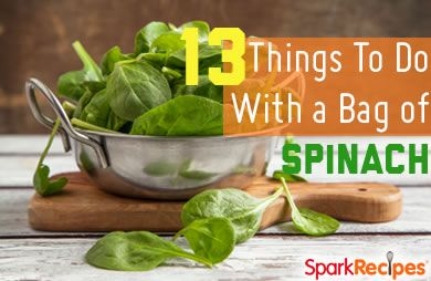 13 Things You Can Do with a Bag of Baby Spinach Slideshow via @SparkPeople