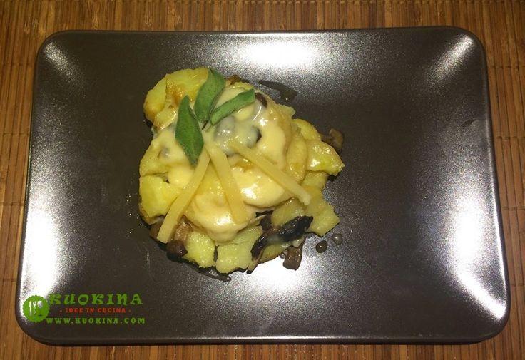 Sformatino di patate funghi chiodini e puzzone di Moena