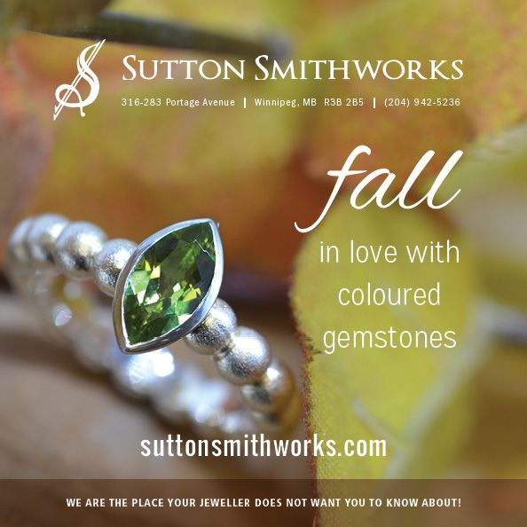 See beautiful #colouredgemstone #jewelry like this #sterlingsilver #peridot #ring here at #SuttonSmithworks in #downtown #Winnipeg. As summer is nearing its end, let's switch up our jewelry to match our fall style. Check out our coloured gemstone jewelry and see which one suits you best!