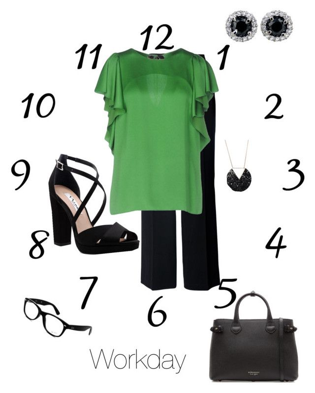 """""""Workday"""" by esteadman-1 on Polyvore featuring Chesca, Lanvin, Nina, Burberry and Ray-Ban"""