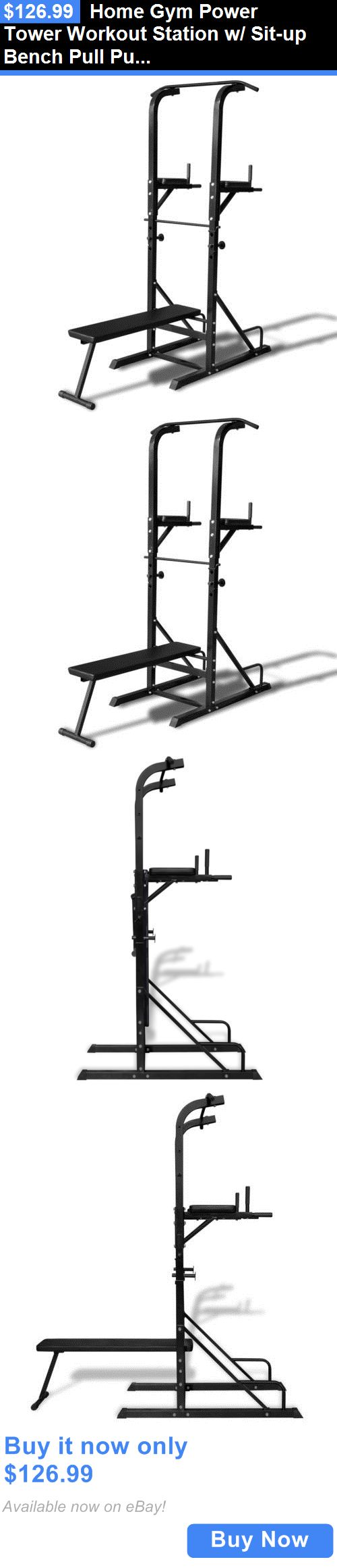 Other Weight Management: Home Gym Power Tower Workout Station W/ Sit-Up Bench Pull Push Chin-Up Dip Abs BUY IT NOW ONLY: $126.99