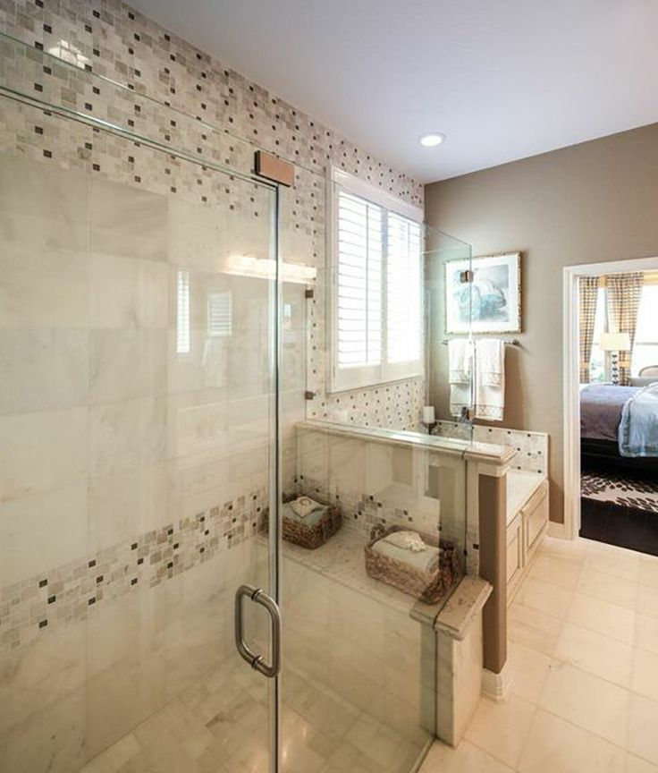 Choose An Interesting Yet Subtle Mosaic Motif In Your Master Bathroom That Compliments The Palette Of