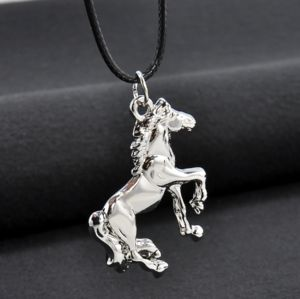 Siver Plated Horse Necklace