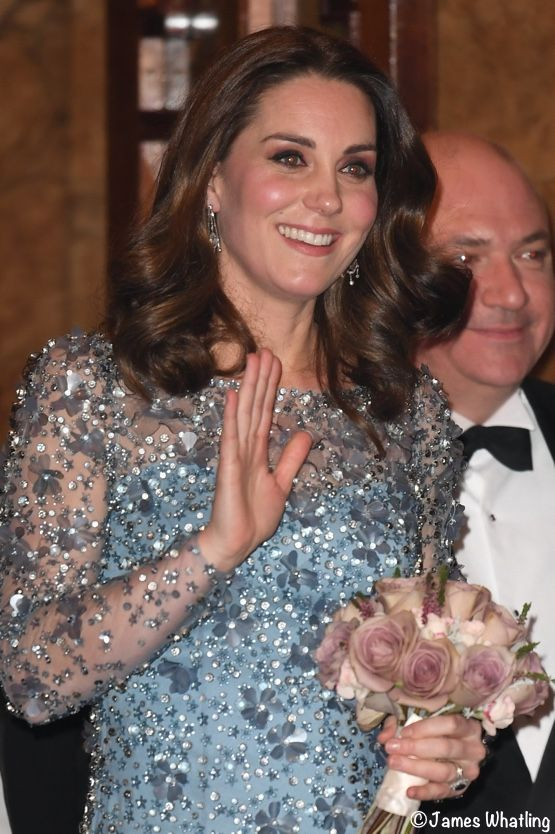 Kate Shines in Shimmering Jenny Packham Gown for Royal Variety Performance - What Kate Wore