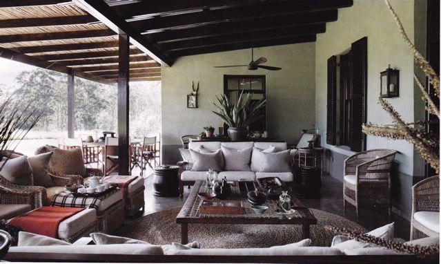 Time for tea on the verandah....