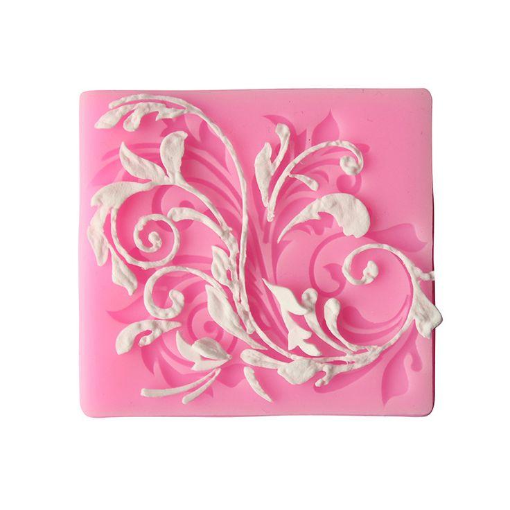 1 Pcs 3D flor Silicone molde de cozimento Fondant de Chocolate bolo de molde de Silicone ferramentas DIY queque alishoppbrasil
