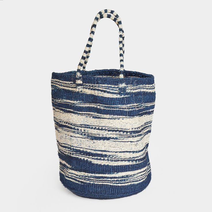 Large Hand Woven Sisal Tote by Swahili