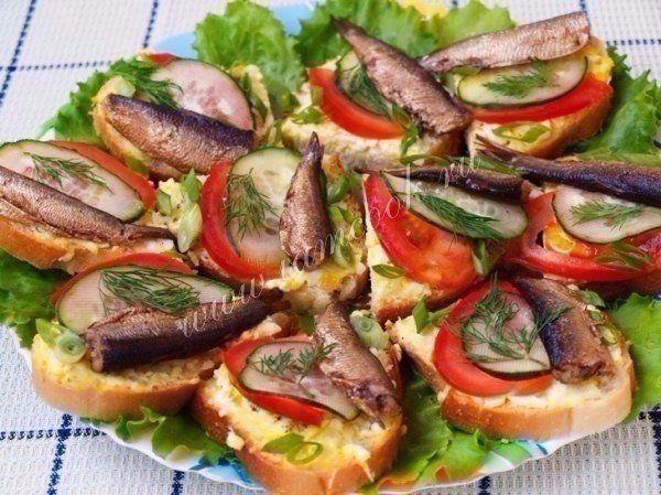 Праздничные бутерброды со шпротами / Женское счастье!