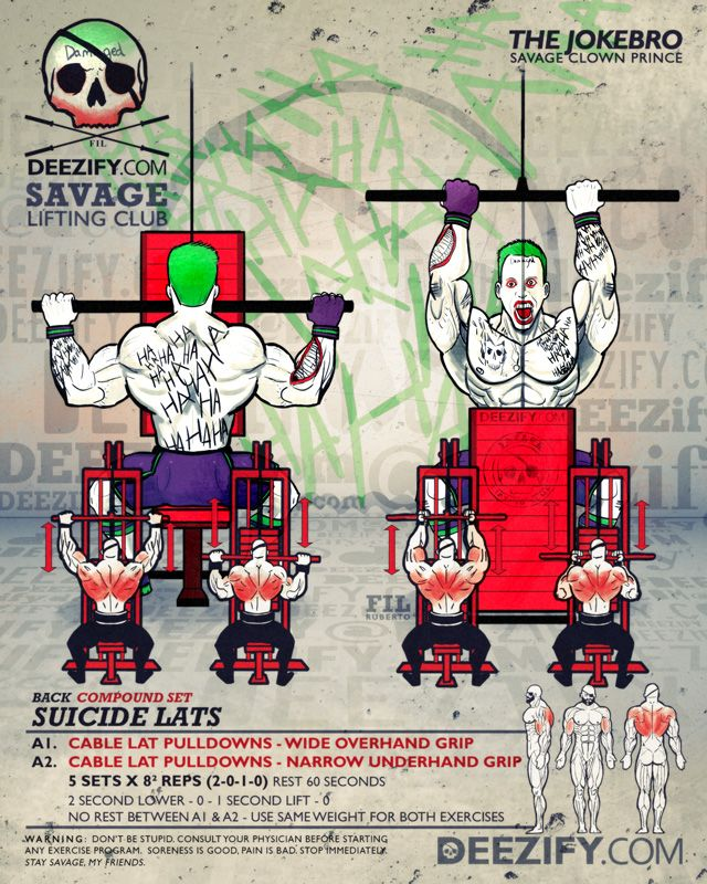 back exercise: lat pulldown with joker