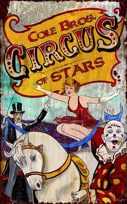circus decor for the home | Vintage Circus Signs