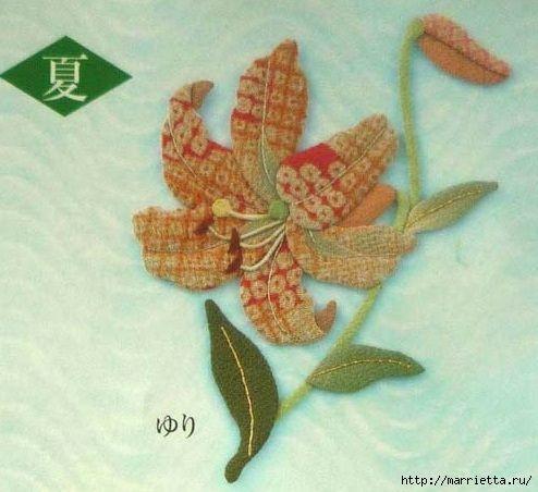 Цветочная аппликация от китайских мастериц (1) (494x452, 129Kb)