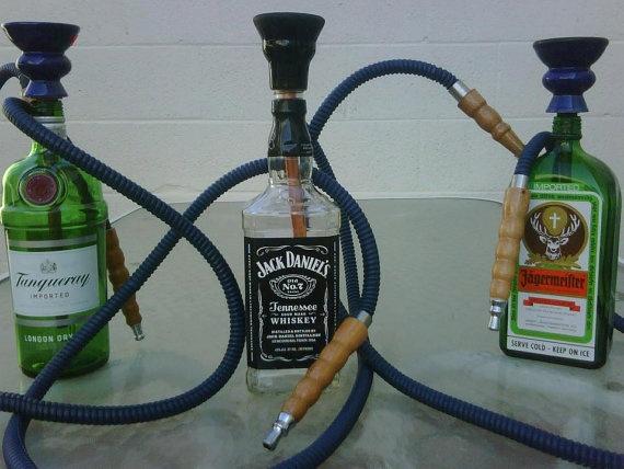 Liquor Bottle Hookah One Hose Standard By Haxshookahs On Etsy