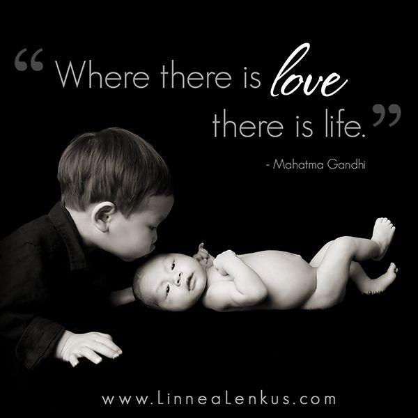 Love is Life #InspirationalQuote set to the #NewbornPhotography of #LosAngelesPhotographer. http://linnealenkus.com Call 526.981.8900