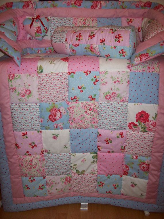 Cath Kidston Quilt Set Cot bed Quilt with Bumper by traceym3859, £75.00