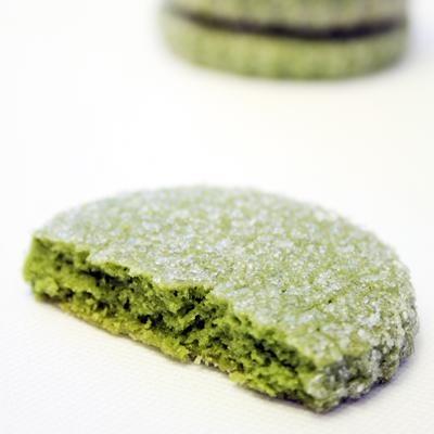 Green tea cookies: Cookies Batter, Green Teas Desserts Recipes, Favorite Cookies, Healthy Cookies, Green Teas Cookies, Cookies Recipes, Teas Recipes, Enjoying Green, Green Baking