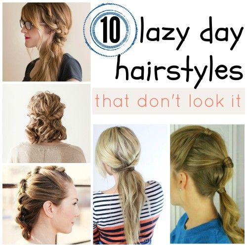 Not every morning can be spent drying and curling your hair. Check out these 10 easy lazy day hairstyles for hair that works even when you don't want ...