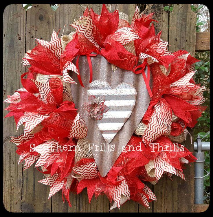 Valentines Day Wreath, Heart Wreath, Love Wreath, Rustic Wreath, Outdoor  Wreath,