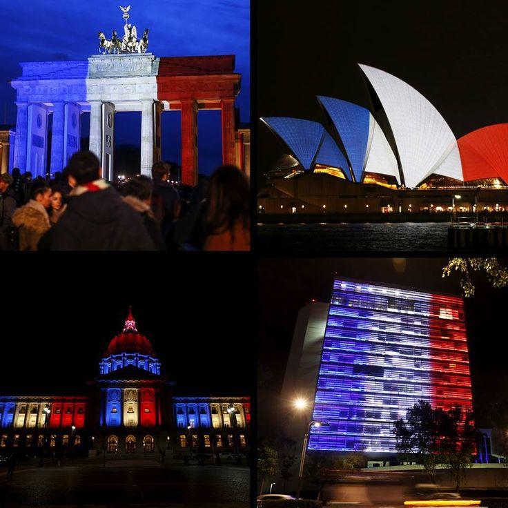PARTAGE DE 360WEB........SUR FACEBOOK............Le One World Trade Center, la mairie de San Francisco ou encore la CN Tower de Toronto: plusieurs monuments ont décidé, après les attentats meurtriers perpétrés à Paris, de s'illuminer aux couleurs de la France..........