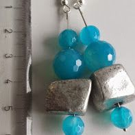 Agate turquoise and metal
