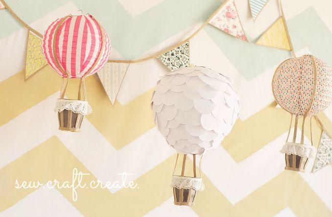 Hot air ballon craft.  So cute!
