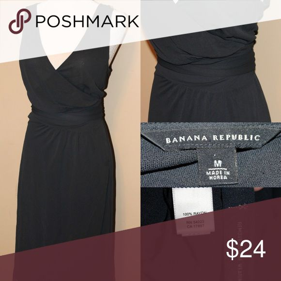 BANANA REPUBLIC Navy Blue Sheer Wrap Dress Sheer navy blue Wrap dress perfect to wear over a swimsuit and over a tight body con tank dress.....or over a nude colored shaper dress for a see thru sexy look Banana Republic Dresses Midi