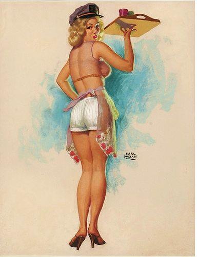 Artwork by Earl Moran (1893-1984), American artist.