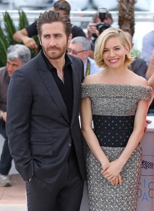 Jury members Jake Gyllenhaal (L) and Sienna Miller arrive at a jury photo call during the 68th annual Cannes International Film Festival in Cannes, France on May 13, 2015. Photo by David Silpa/UPI