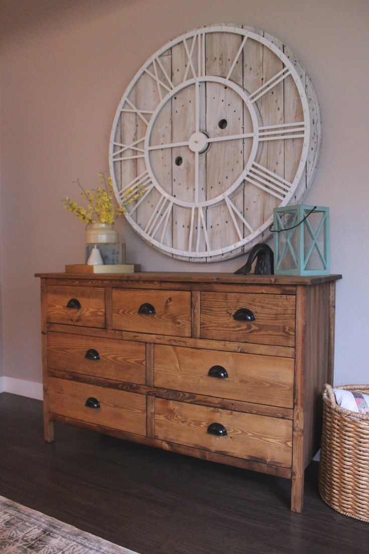 Rustic 7 Drawer Dresser | Do It Yourself Home Projects from Ana White