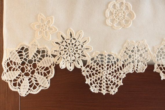 Napperons crochet draperie Rideau café décor de par DecorAnna