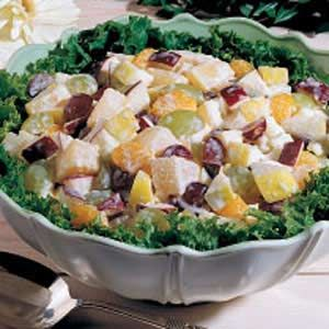 My grandma always makes this! Company Fruit Salad, quick, easy, cheap, yummy, my favorite.