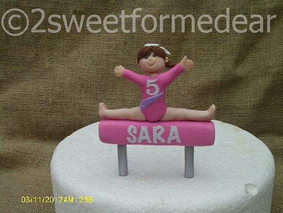 Large Girl gymnast cake topper. Free silver by 2sweetformedear