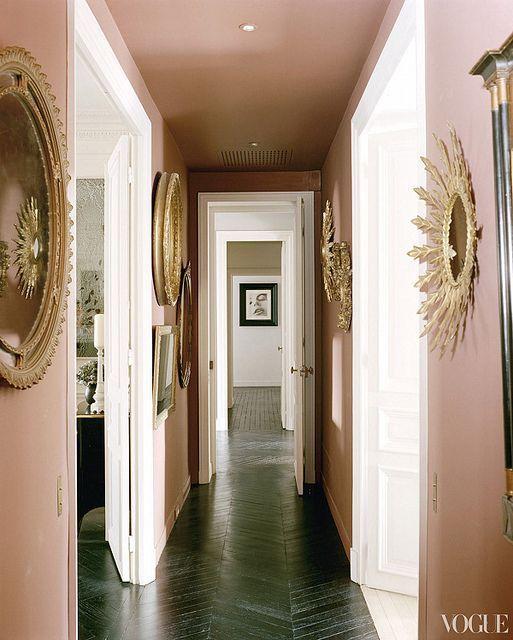 A Glamorous Blush Or Rose Quartz Pink Hallway