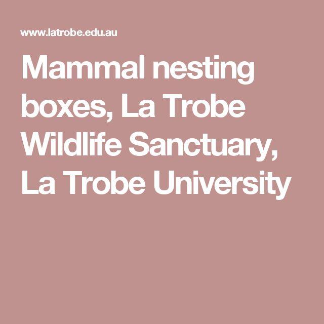 Mammal nesting boxes, La Trobe Wildlife Sanctuary, La Trobe University
