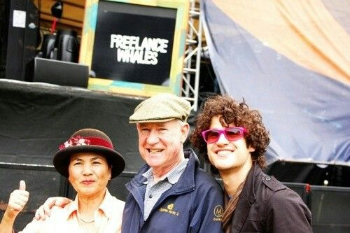 Darren with his parents at Outside Lands Festival in San Francisco for Chuck's show (August 14, 2010)